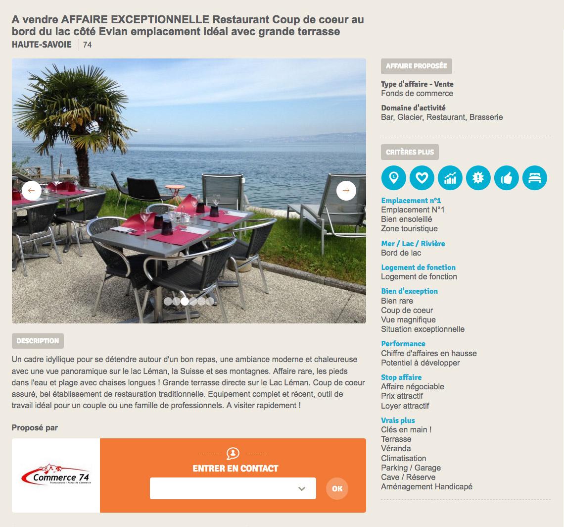Vente restaurant, Byzerpro.com